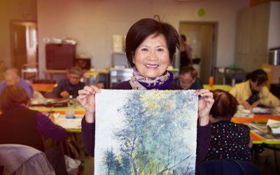 Senior Stock Photos: Painting Activity